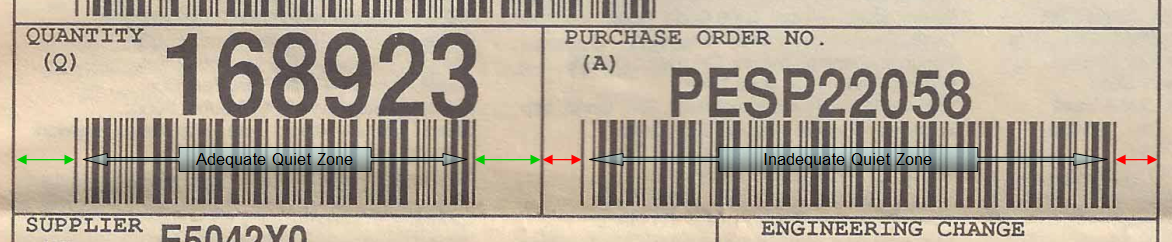 For illustration only. The actual label pictured here was fixed and did scan quite well.